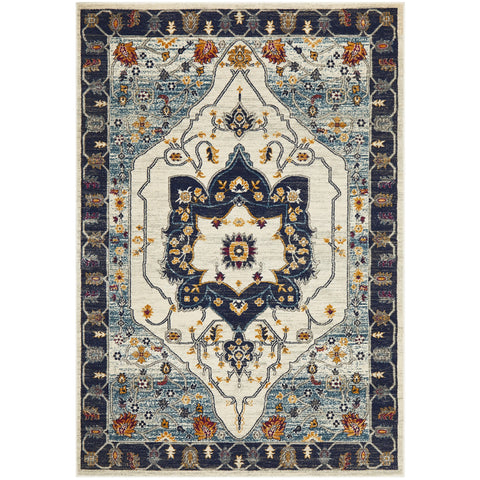 Selje 601 Blue Transitional Bohemian Inspired Rug - Rugs Of Beauty - 1