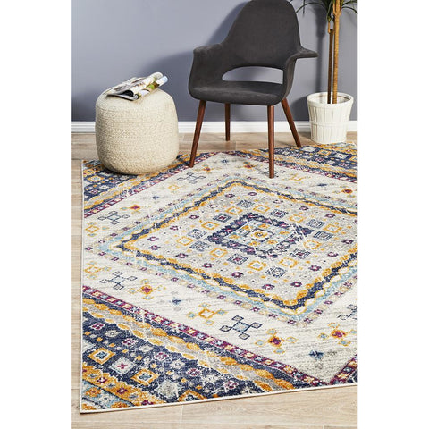 Selje 603 Cream Multi Colour Transitional Bohemian Inspired Rug - Rugs Of Beauty - 1