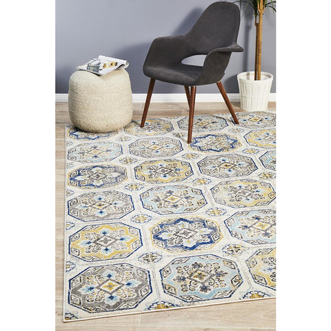 Selje 604 Blue Transitional Bohemian Inspired Rug - Rugs Of Beauty - 1