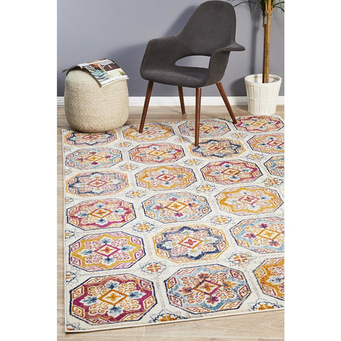 Selje 604 Multi Colour Transitional Bohemian Inspired Rug - Rugs Of Beauty - 1