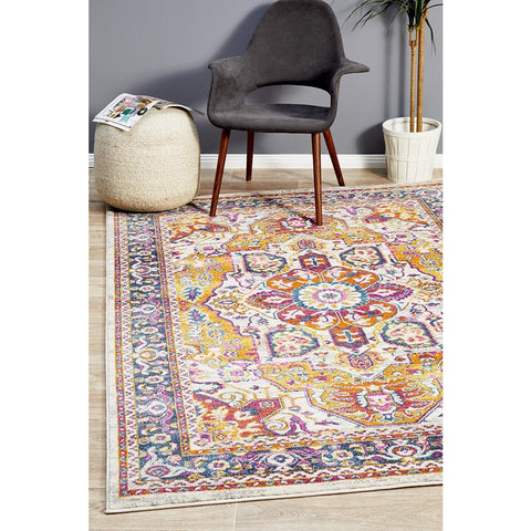 Selje 607 Rust Multi Colour Transitional Bohemian Inspired Rug - Rugs Of Beauty - 1
