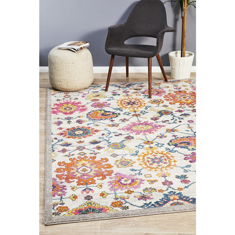 Selje 608 Multi Colour Transitional Bohemian Inspired Rug - Rugs Of Beauty - 1