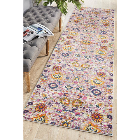 Selje 610 Multi Colour Abstract Transitional Bohemian Inspired Runner Rug - Rugs Of Beauty - 1