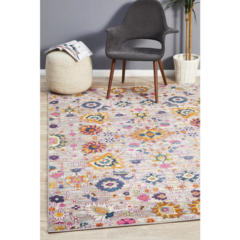 Selje 610 Multi Colour Abstract Transitional Bohemian Inspired Rug - Rugs Of Beauty - 1