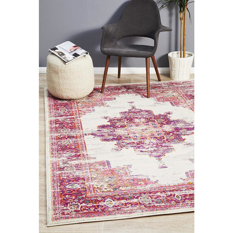 Selje 611 Pink Multi Colour Transitional Bohemian Inspired Rug - Rugs Of Beauty - 1