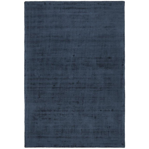 Caen Denim Blue Modern Hand Loomed Viscose Rug - Rugs Of Beauty - 1