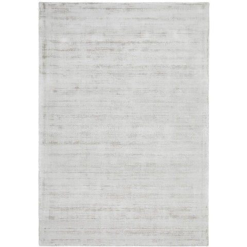Caen 704 Silver Grey Ivory Modern Hand Loomed Viscose Rug - Rugs Of Beauty - 1