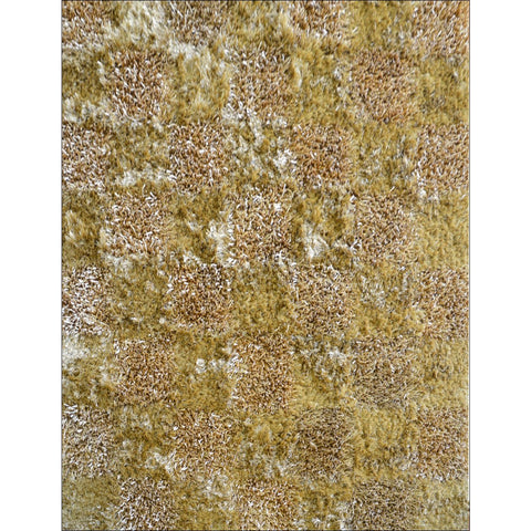 Hand Knotted Polyester Plush Shaggy Borneo Khaki Rug - Rugs Of Beauty