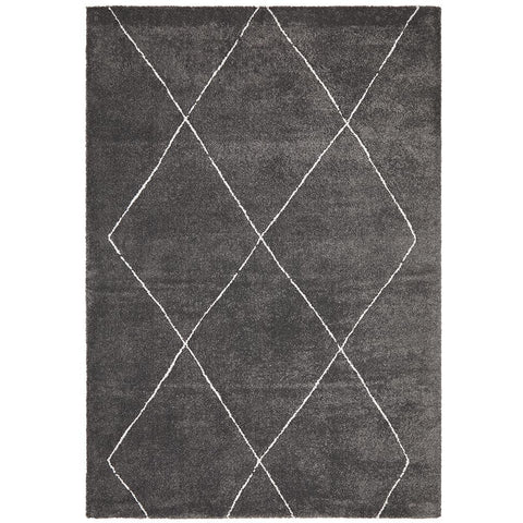Boden 781 Charcoal Grey Contemporary Plush Geometric Rug - Rugs Of Beauty - 1