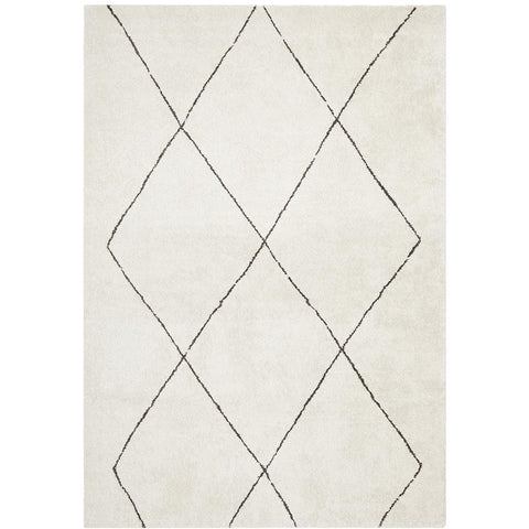 Boden 781 Ivory Contemporary Plush Geometric Rug - Rugs Of Beauty - 1