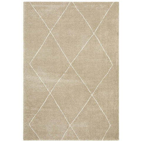 Boden 781 Natural Contemporary Plush Geometric Rug - Rugs Of Beauty - 1
