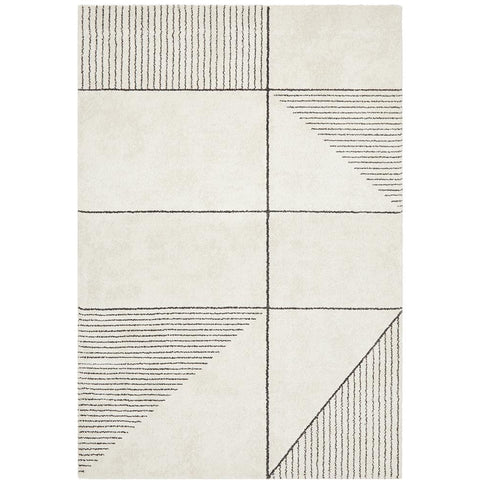 Boden 785 Ivory Contemporary Plush Geometric Rug - Rugs Of Beauty - 1