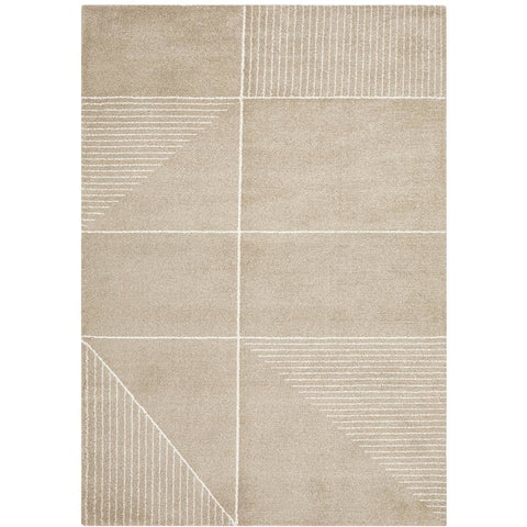 Boden 785 Natural Contemporary Plush Geometric Rug - Rugs Of Beauty - 1