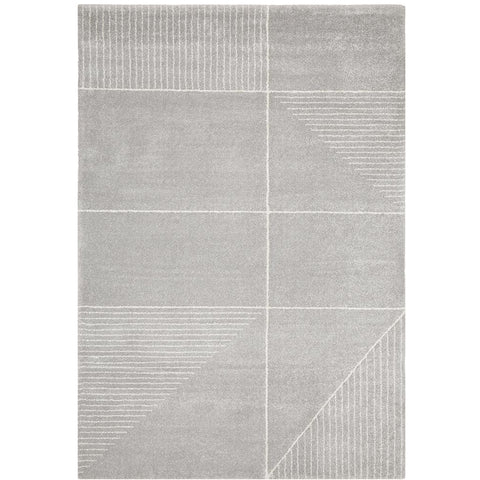 Boden 785 Silver Grey Contemporary Plush Geometric Rug - Rugs Of Beauty - 1
