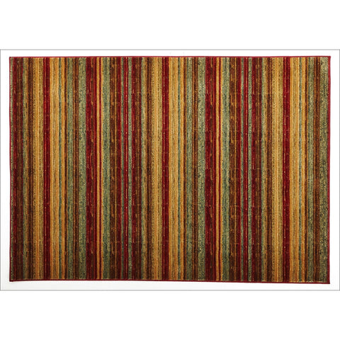 Rustic Stripe Stripped Rug Red - Rugs Of Beauty
