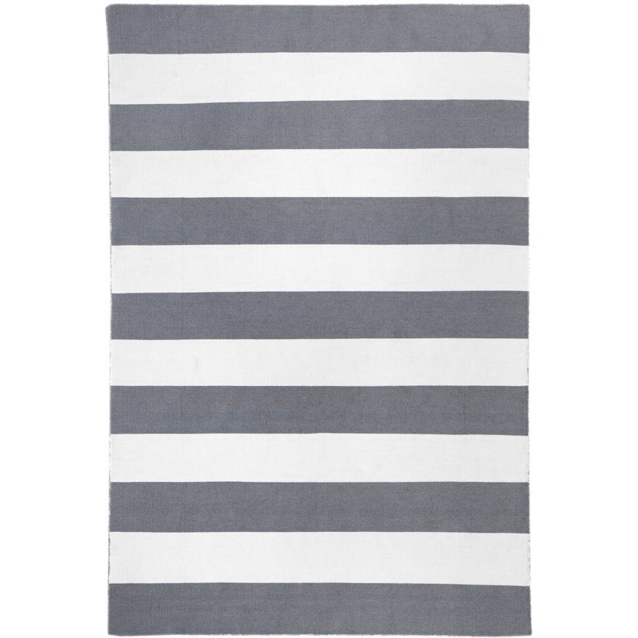 Maahes Indoor Outdoor Contemporary Grey And White Striped Rug Rugs