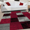 Grantham 1475 Red Black Grey Patterned Modern Rug - Rugs Of Beauty - 2