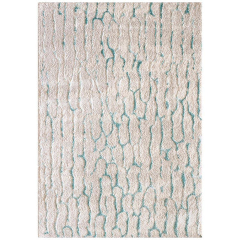 Kivalna 750 Green Blue Beige White Abstract Patterned Modern Rug - Rugs Of Beauty - 1