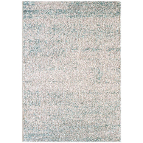 Kivalna 757 Blue Beige Abstract Patterned Plush Modern Rug - Rugs Of Beauty - 1