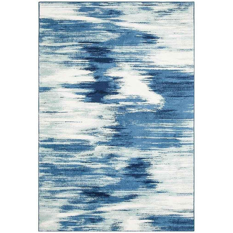 Abelino 3271 Blue Watercolour Abstract Patterned Modern Designer Rug - Rugs Of Beauty - 1