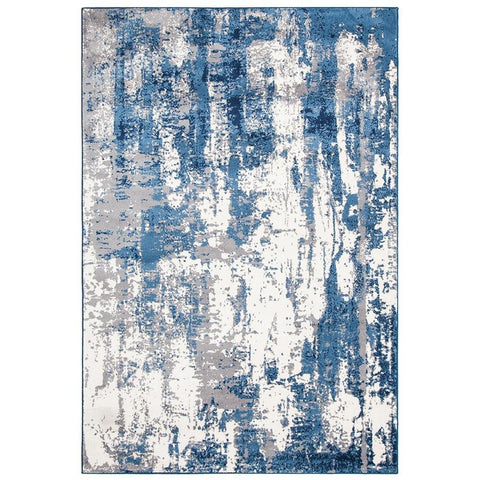 Abelino 3272 Blue Abstract Patterned Modern Designer Rug - Rugs Of Beauty - 1