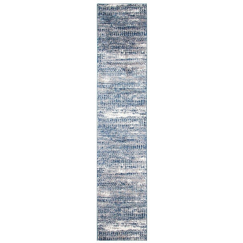 Abelino 3273 Grey Abstract Patterned Modern Designer Runner Rug - Rugs Of Beauty - 1