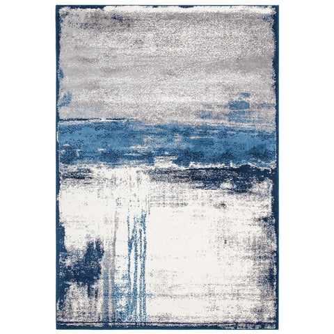 Abelino 3274 Blue Abstract Watercolour Patterned Modern Designer Rug - Rugs Of Beauty - 1
