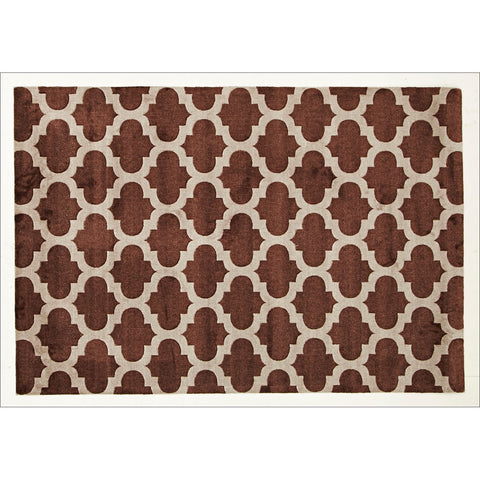 Trellis Stylish Design Rug Brown - Rugs Of Beauty - 1