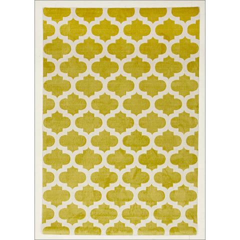 Trellis Stylish Design Rug Green - Rugs Of Beauty - 1