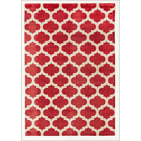 Trellis Stylish Design Rug Red - Rugs Of Beauty - 1