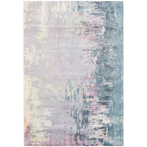 Calais Abstract Watercolour Violet Beige Patterned Rug - Rugs Of Beauty - 1
