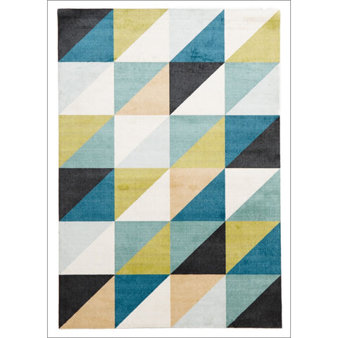 Stunning Modern Matrix Rug Blue Green - Rugs Of Beauty - 1