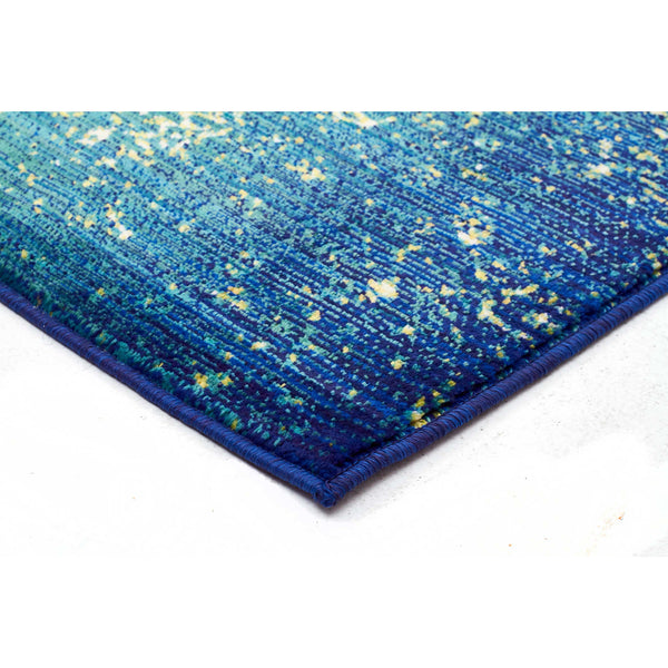 Monsa Aqua Blue Green Transitional Abstract Rug Rugs Of