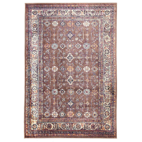 Monsa Multi Coloured Transitional Rug With Faded Brown Backing - Rugs Of Beauty - 1