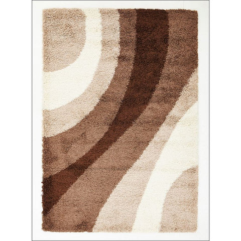 Casablanca Beige Brown Taupe Weave Soft Plush Cream Shaggy Rug - Rugs Of Beauty