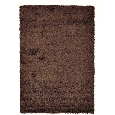 Casablanca Plain Brown Soft Plush Shaggy Rug - Rugs Of Beauty