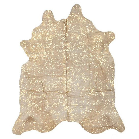 Premium Brazilian Cowhide Gold Rug - Rugs Of Beauty
