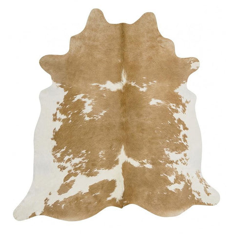 Premium Brazilian Cowhide Beige White - Rugs Of Beauty - 1