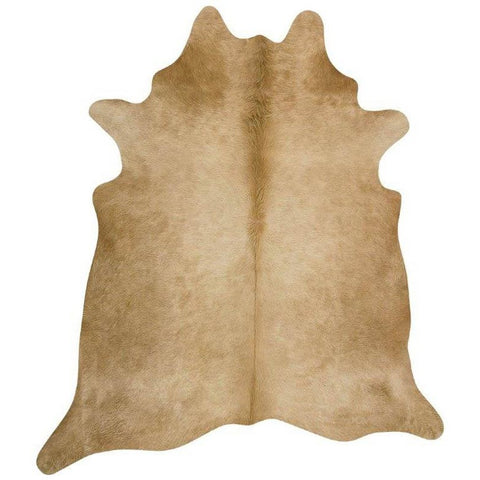 Premium Brazilian Cowhide Beige - Rugs Of Beauty - 1