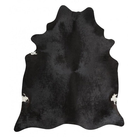 Premium Brazilian Cowhide Black - Rugs Of Beauty - 1