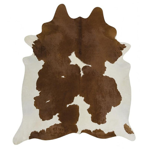 Premium Brazilian Cowhide Brown White - Rugs Of Beauty - 1