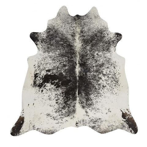 Premium Brazilian Cowhide Salt Pepper Black - Rugs Of Beauty