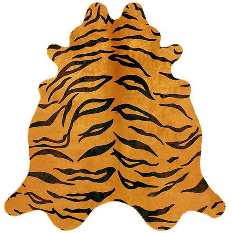 Premium Brazilian Cowhide Tiger - Rugs Of Beauty
