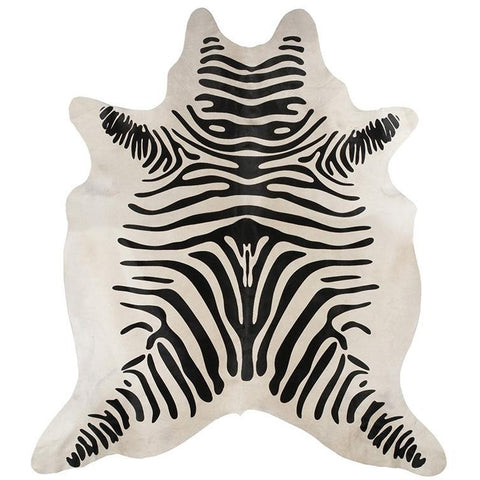 Premium Brazilian Cowhide Zebra - Rugs Of Beauty