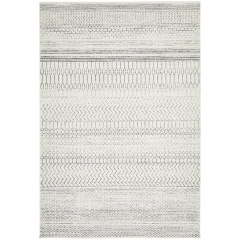 Kiruna 773 Silver Grey Cream Transitional Patterned Rug - Rugs Of Beauty - 1