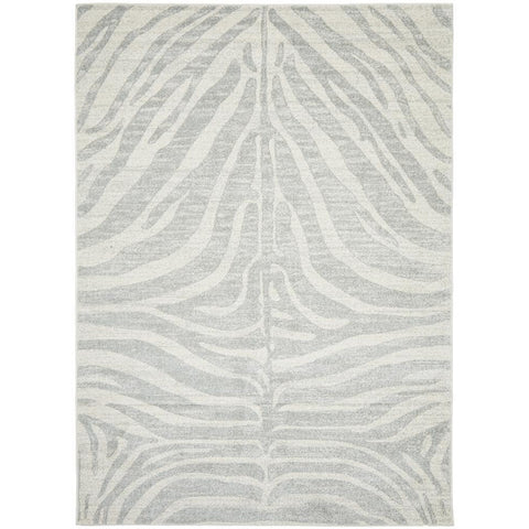 Kiruna 776 Silver Grey Cream Transitional Animal Patterned Rug - Rugs Of Beauty - 1