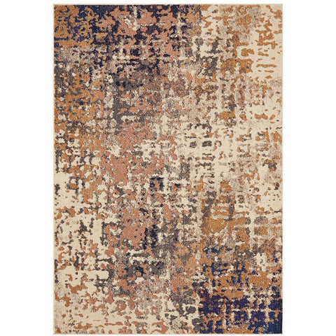 Aberdeen 1475 Abstract Blue Multi Coloured Patterned Modern Designer Rug - Rugs Of Beauty - 1