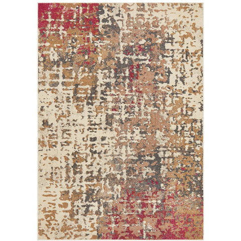 Aberdeen 1476 Abstract Pink Multi Coloured Patterned Modern Designer Rug - Rugs Of Beauty - 1