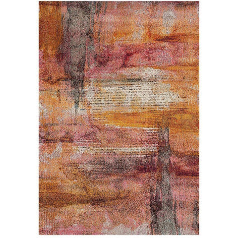 Aberdeen 1477 Abstract Rust Multi Coloured Patterned Modern Designer Rug - Rugs Of Beauty - 1