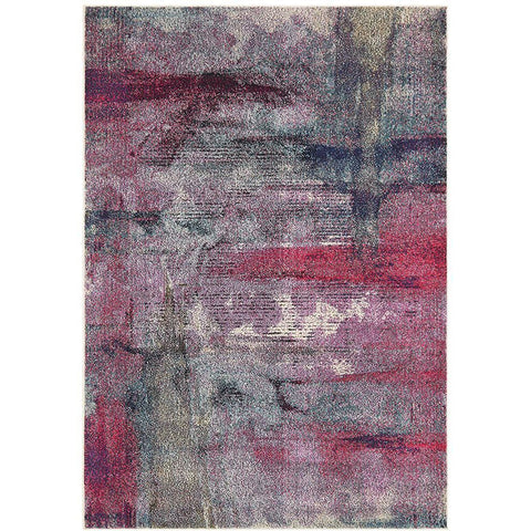 Aberdeen 1478 Abstract Violet Multi Coloured Patterned Modern Designer Rug - Rugs Of Beauty - 1